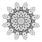 Arabian floral pattern motif. Black and white Arabic middle eastern floral pattern motif, based on Arabian ornament Royalty Free Stock Photos