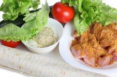 Arabian food ingredients Royalty Free Stock Images