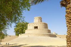 Arabian Fort in Al Ain, United Arab Emirates. Ancient Jahili Fort in Al Ain, Abu Dhabi, United Arab Emirates stock photography