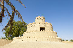 Arabian Fort in Al Ain, United Arab Emirates. Ancient Jahili Fort in Al Ain, Abu Dhabi, United Arab Emirates royalty free stock photo