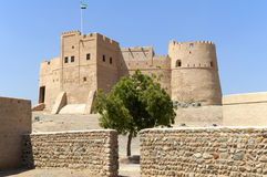 Arabian fort in Fujairah Stock Image