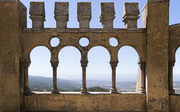 Arabian gallery in Pena palace, Sintra Stock Photo