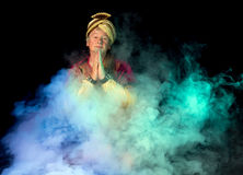 Arabian ghost in the mist. Misty clouds and an arabian ghost emerging Royalty Free Stock Photography