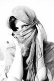 Arabian girl in black Stock Photography