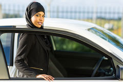 Arabian girl car Royalty Free Stock Photography