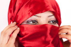 Arabian Girl Eyes Stock Photos