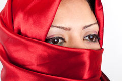 Arabian Girl Eyes Stock Images