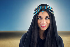 Arabian Girl wearing Traditional Headscarf Royalty Free Stock Image