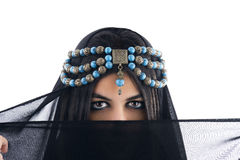 Arabian Girl wearing Traditional Headscarf, Royalty Free Stock Photos