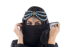 Arabian Girl wearing Traditional Headscarf, Stock Photography