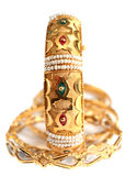 Arabian gold jewellery, vertical Stock Photography