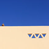 Arabian house. The wall of arabian house with ornament Royalty Free Stock Photography