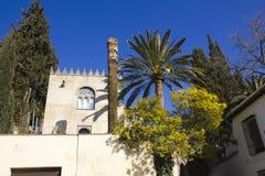 Arabian house. Albaicin, Granada stock images