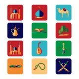 Arabian icons set Royalty Free Stock Image
