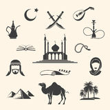 Arabian icons set Royalty Free Stock Photos
