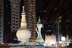 Arabian incense burner monument Stock Photos