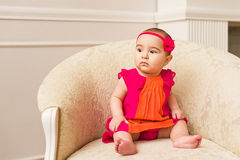 Arabian infant girl Royalty Free Stock Photo
