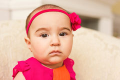 Arabian infant girl Royalty Free Stock Photography