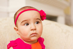 Arabian infant girl Stock Image