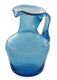 The Arabian jug. Blue Arabian jug on a white background (Objects with Clipping Paths Stock Photos