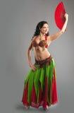 arabian kostiumu fan dziewczyna Oriental Fotografia Royalty Free