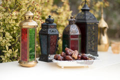 Arabian Lamps and Dates Royalty Free Stock Photos