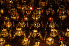 Arabian lamps at night Stock Image