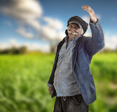 Arabian lebanese farmer proud of his land Royalty Free Stock Images