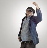 Arabian lebanese man being proud waving Stock Images