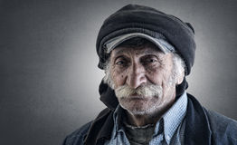 Arabian lebanese man with big mustache smiling Stock Images