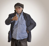 Arabian lebanese man / farmer with thumbs up Royalty Free Stock Photos