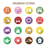 Arabian long shadow icons Royalty Free Stock Image