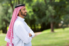 Arabian man arms crossed Royalty Free Stock Image