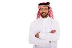 Arabian man arms crossed Royalty Free Stock Photo