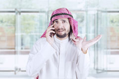 Arabian man having a phone call Royalty Free Stock Photo