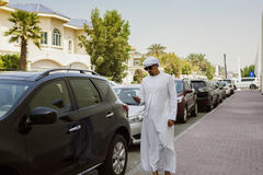 Arabian Man Using Smart Phone