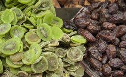 It is an Arabian market. Merchants sell dried fruits. Royalty Free Stock Photos