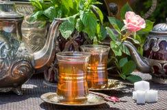 Arabian mint tea Royalty Free Stock Image