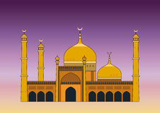 Arabian mosque. Illustration of the Arabian mosque at sunset Royalty Free Stock Photos