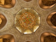 Arabian mosque interior Royalty Free Stock Image