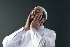 Arabian muslim man praying Stock Image
