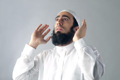 Arabian muslim man praying Royalty Free Stock Photos