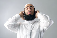 Arabian muslim man praying Stock Images