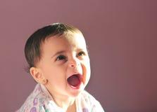Baby girl screaming  Stock Photos