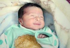 Arabian new born girl Stock Photos
