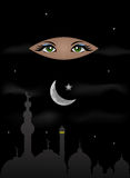 Arabian Night. And Scheherazade Eyes Stock Photography