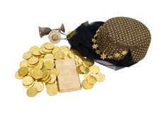 Arabian nights gold veil Stock Image