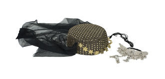 Arabian nights headwear and necklace Royalty Free Stock Images