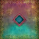 Arabian Nights - ornate gold border with vibrant grunge background