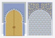 Arabian ornament. Vector illustration of a door in Arabian style stock illustration